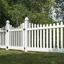 Lennox 4x8 Vinyl Picket Fence Kit Vinyl Fence Freedom Outdoor Living For Lowes