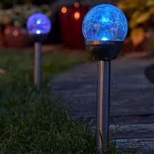 solar mosaic garden post lights