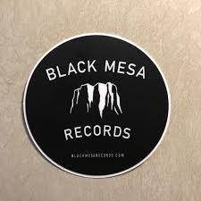 Black Mesa Original Logo Sticker Black Mesa Records