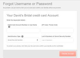 david s bridal credit card login bill