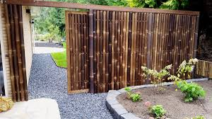 Black Bamboo Sliding Gate Fence