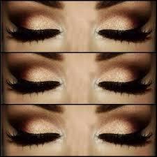 tutorial brown and gold smokey eye