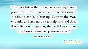 bible verse about friendship ecclesiastes bible verses