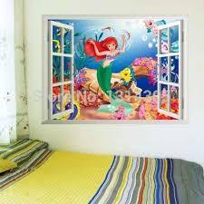 Lovely Mermaid Princess Ariel Wall Sticker Vinyl Art Decal Kids Room Decor Flgp2 Room Decoration Kids Room Decorationariel Wall Stickers Aliexpress