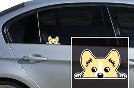 Pembroke Corgi Peeper Bomber Sticker Decal