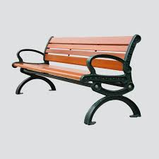 wooden garden bench cast iron leg