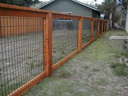 Wood And Wire Fences Home Exterior Design Ideas Backyard Fences Fence Design Cheap Fence