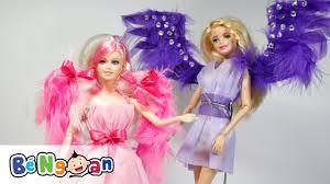 Làm váy và cánh thiên thần tím và hồng cho búp bê Barbie ~ Make purple and  pink angle wings for doll - YouTube