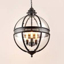globe pendant light metal and glass