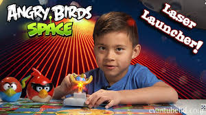 Angry Birds Space LASER LAUNCHER Toy - EPIC Red Laser Destruction ...