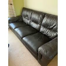 leather sofa and sofa bed in