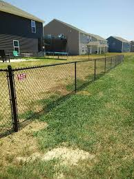 K M Fence 4 Foot Tall Black Vinyl Chain Link Fence We Facebook