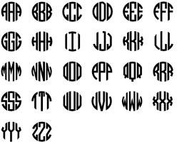 Children S Bedroom Child Decor Decals Stickers Vinyl Art Personalized Scallop Monogram Circle Letter Vinyl Decal Home Garden Vibranthns Lk