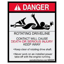 Rotating Driveline Safety Decal 4x6 5 W85897 Vinyl Decals Aaxis Distributors