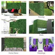 3 Ft H X 3 Ft W Artificial Planes Milan Hedge Polyethylene Fence Panel In 2020 Artificial Hedges Hedges Fence Panels