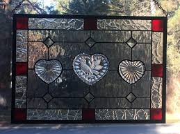 stained glass transom window with