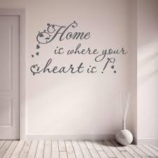 home is where your heart is wall decal style and apply