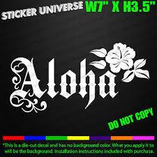 Car Truck Decals Emblems License Frames Maui Island Car Window Decal Bumper Sticker Tropical Hawaii Aloha Hibiscus 0382 Moonnepal Com