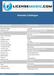 karaoke catalogue license