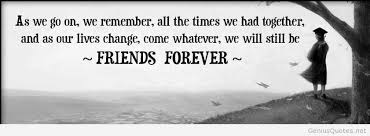 event friends forever quote high school college student graduate