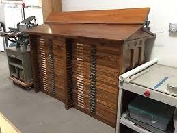drawer wood type printers letterpress