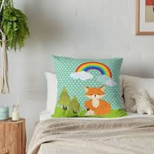 Kids Room Decor Nursery Pillow Throw Pillow Fox And Etsy