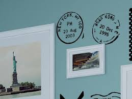 Us Cities Travel Postmarks Photo Wall Decal Travel Themed Bedroom Travel Themed Room Travel Room