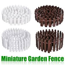 Miniature Wood Fencing Decors Diy Fairy Garden Micro Dollhouse Gates Decor Ornament White Coffee Colors 100 5cm 100 3cm Fencing Trellis Gates Aliexpress