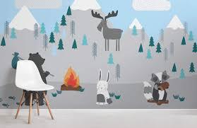 Kids Mountain Scene Wallpaper Mural Muralswallpaper