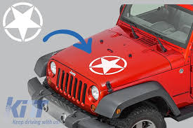 Sticker Star Universal Suitable For Jeep Wrangler Jk Truck Or Other Cars White Carpartstuning Com