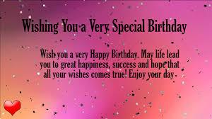 wishing happy birthday lines