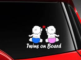 Twins On Board Baby On Board Decal Die Cut Sticker Different Etsy