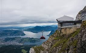 switzerland pilatus top view city