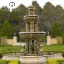 marble stone garden water fountain