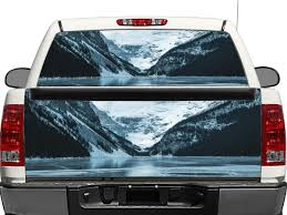 Snow Mountains Ice Rear Window Or Tailgate Decal Sticker Pick Up Truck Suv Car