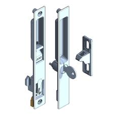 d 50 aluminum sliding door lock