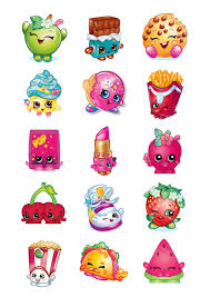 Shopkins Inspired Cupcake Toppers Favor Tags Stickers Digital