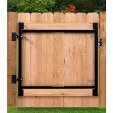 Gate Hardware Kit 24 In Heavy Duty Steel Fence Drop Rod In Black Finish