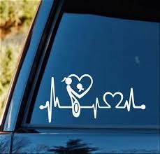 Amazon Com Bluegrass Decals K1121 Mother Mom Loves Daughter Heartbeat Lifeline Monitor Decal Sticker Automotive