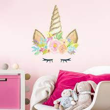 Amazon Com Unicorn Horn Wall Decal Girl S Room Decor Wall Stickers With Printed Glitter Effect Regular Size Baby