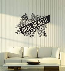 Amazon Com Vinyl Wall Decal Oral Health Words Cloud Dentistry Dentist Office Interior Dental Clinic Stickers Mural Large Decor Ig5754 Black Home Kitchen