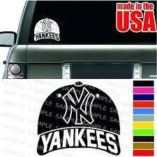 Yankees Car Decal S New York Stickers Baseball Cap Cool Window Color Bumper Sticker Sutanrajaamurang