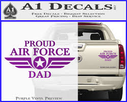 Proud Air Force Dad D1 Decal Sticker A1 Decals