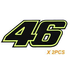 2x Reflective Fluorescent Valentino Rossi 46 Motogp Racing Vinyl Decal Xotic Tech
