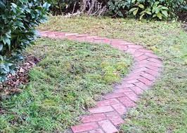diy herringbone garden path