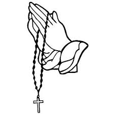 """Amazon.com: Praying Hands with Rosary Sticker Decal White (7""""x3.8 ..."""
