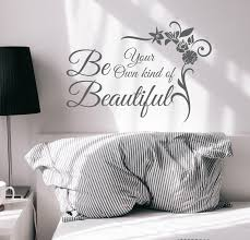 Wall Decal Lettering Be Your Own Kind Beautiful Phrase Quote Vinyl Dec Wallstickers4you