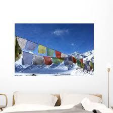 Tibetan Flag Snowy Himalayas Wall Decal Wallmonkeys Com