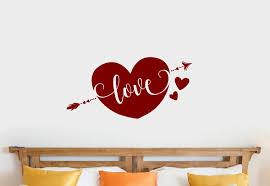Ebern Designs Pietrzak Arrow Heart Love Vinyl Words Wall Decal Wayfair