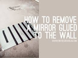 mirror glued to the wall